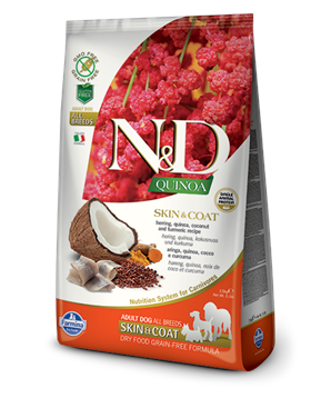 N&D GF Quinoa DOG Skin&Coat Herring & Coconut