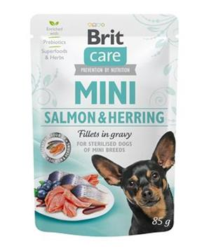 Brit Care Dog Mini Salmon&Herring steril fillets 85g