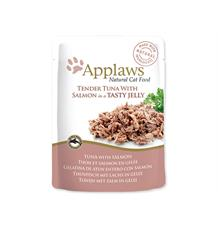 Kapsička APPLAWS cat pouch tuna wholemeat with salmon in jelly