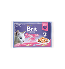 Brit Premium Cat D Fillets in Jelly Dinner Plate
