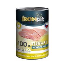 IRONpet Dog Turkey (Krůta) 100% Monoprotein, konzerva