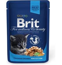 Brit Premium Cat kapsa Chicken Chunks for Kitten - 100 g