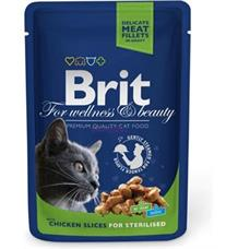 Brit Premium Cat kapsa Chicken Slices for Steril - 100 g