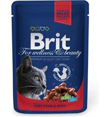 Brit Premium Cat kapsa with Beef Stew & Peas - 100 g