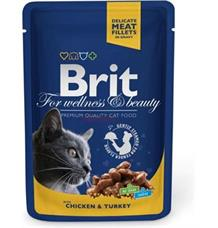 Brit Premium Cat kapsa with Chicken & Turkey - 100 g