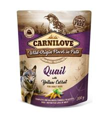 Carnilove Dog Pouch Paté Quail & Yellow Carrot