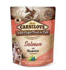 Carnilove Dog Pouch Paté Salmon & Blueber Puppies