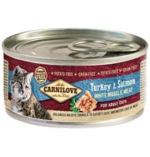 Carnilove White konz Mus Meat Turkey&Salmon Cats