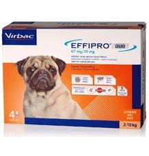 Effipro DUO Dog S (2-10kg)- 1 balení (4x0,67ml)