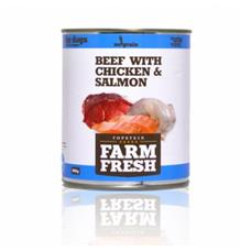 Farm Fresh – Beef with Chicken & Salmon
