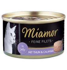 Miamor Cat Filet Konzerva Tuňák+Kalamáry