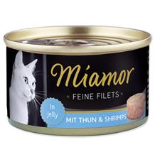 Miamor Cat Filet Konzerva Tuňák+Krevety