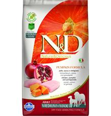 N&D GF Pumpkin DOG Adult M/L Chicken & Pomegranate